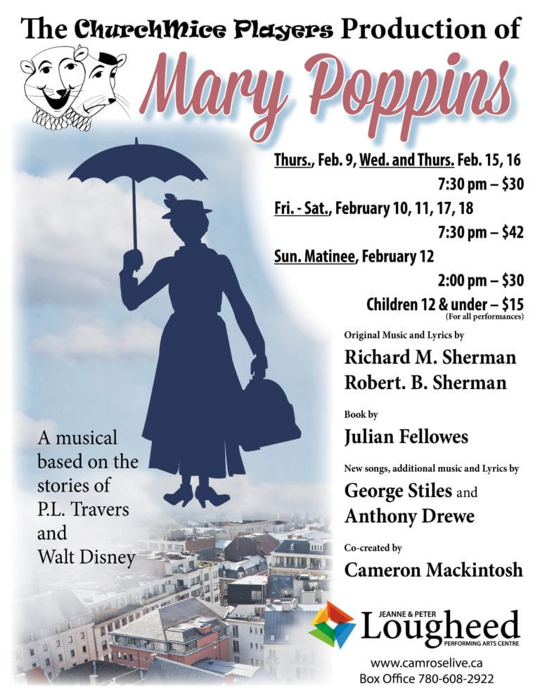 Churchmice Players, Mary Poppins poster 8.5x11